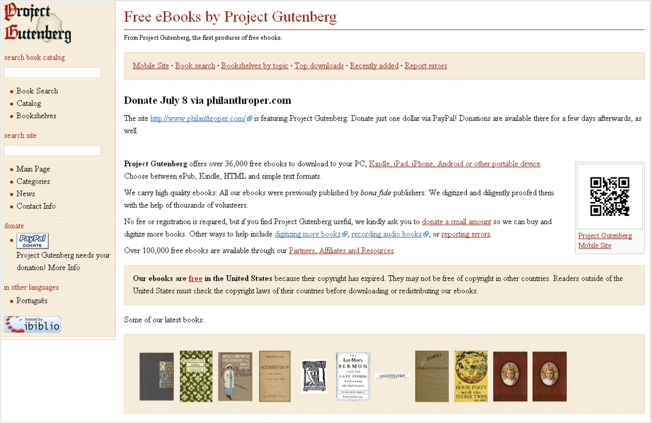 Project Gutenberg alternatives  Top 10 Online Book Catalogs