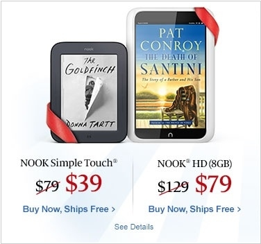 NOOK Simple Touch vs Nook Color. The Best e-Readers