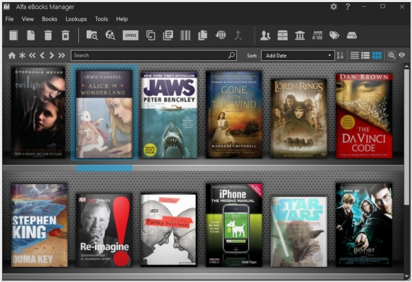 Home library software - overview on bookrunch